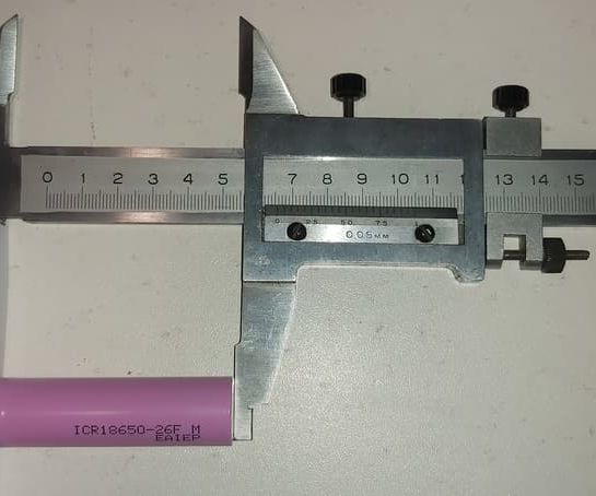 длина аккумулятор 18650 равна 65 мм